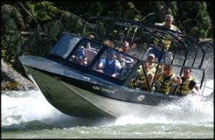 Whistler Jet Boating - BC Canada - Whistler Blackcomb Resort Jet Boating Information