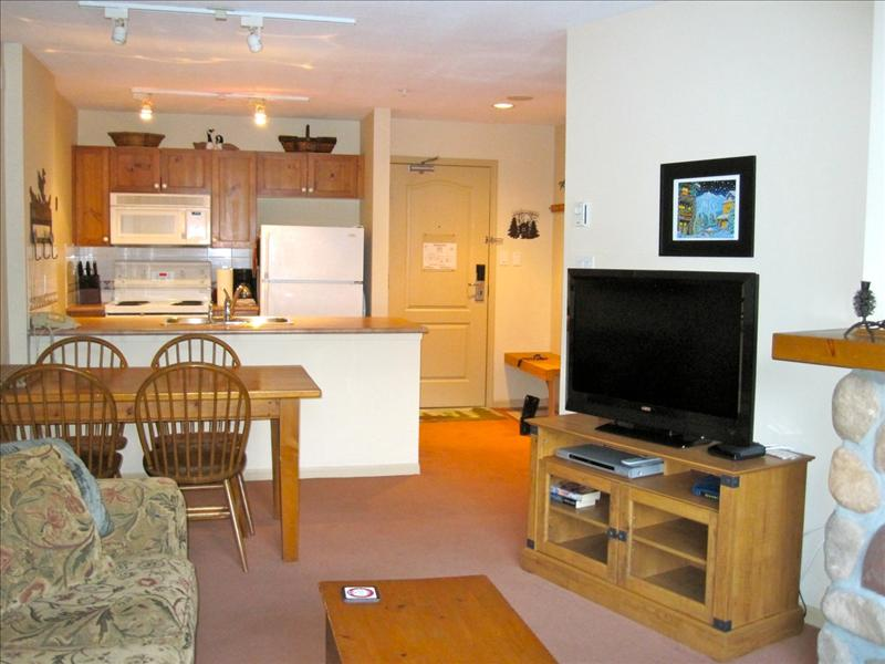 Whistler Accommodations - Living room looking to dining area - Rentals By Owner