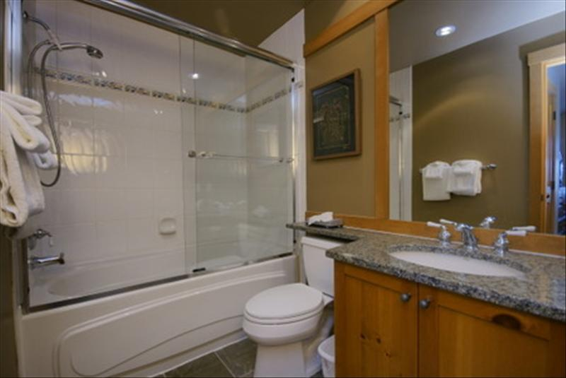 Whistler Accommodations - Full bathroom with heated tile flooring - Rentals By Owner