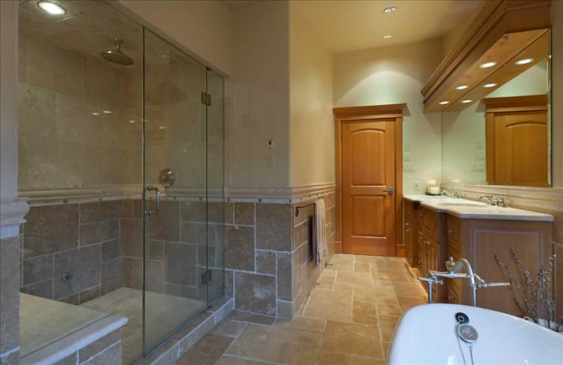 Whistler Accommodations - Luxury Chalet Master Bathroom - Rentals By Owner
