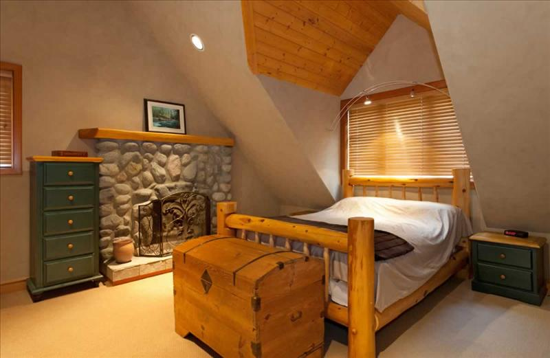 Whistler Accommodations - Luxury Chalet Bedroom with Fireplace - Rentals By Owner