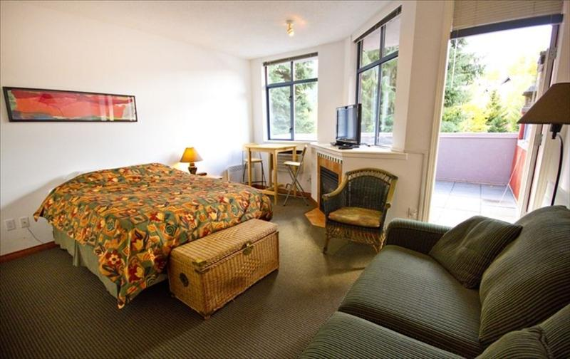 Whistler Accommodations - Queen Size Bed with Fireplace - Rentals By Owner