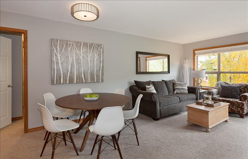 Whistler Accommodations - New mid-century modern dining table and comfortable Eames replica dining chairs - Rentals By Owner