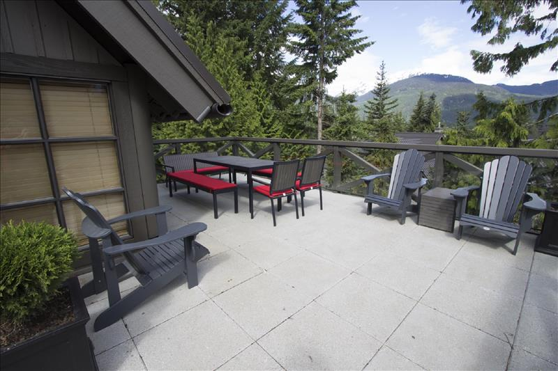 Whistler Accommodations - Upper Level Patio with Seating Area - Rentals By Owner