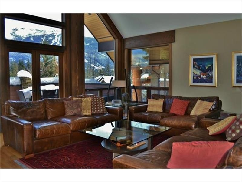 Whistler Accommodations - Luxury Chalet Living Room - Rentals By Owner