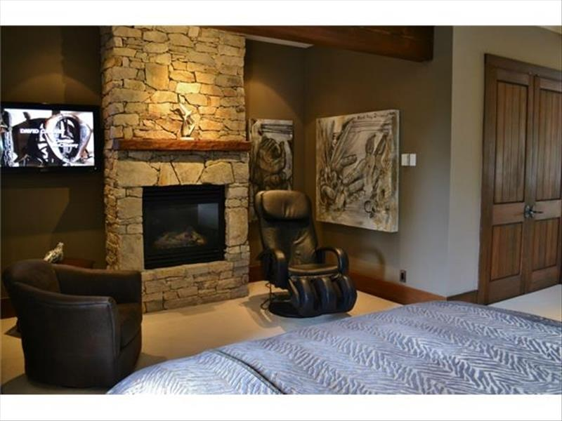 Whistler Accommodations - Luxury Chalet Bedroom Fireplace - Rentals By Owner