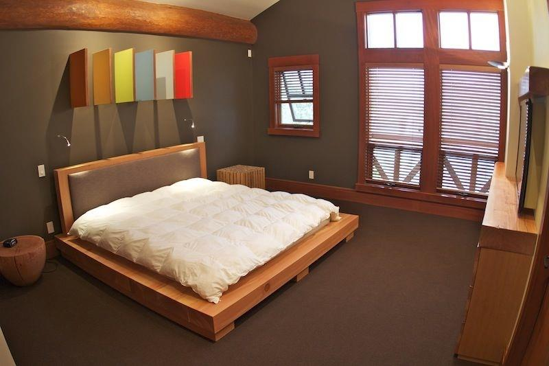 Whistler Accommodations - Whistler Summit Heights Chalet Master Bedroom - Rentals By Owner