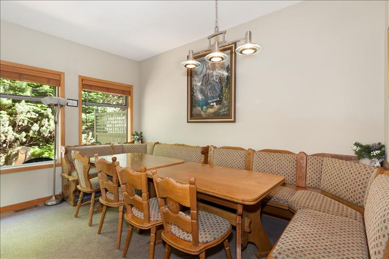 Whistler Accommodations - Snowy Creek Dining Room - Rentals By Owner