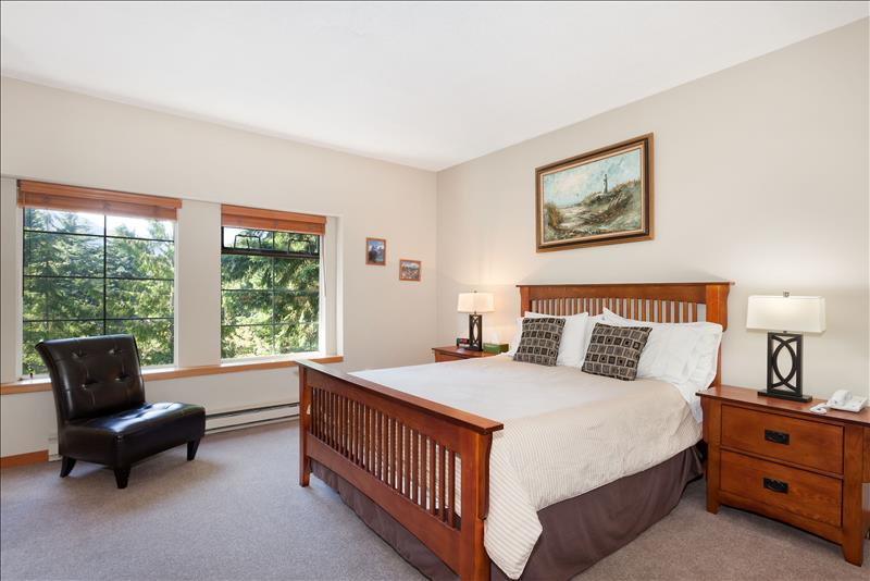 Whistler Accommodations - Snowy Creek Master Bedroom - Rentals By Owner