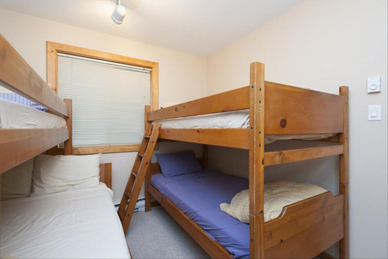 Whistler Accommodations - Bunk Room-2 sets of bunkbeds (1 with double) in 3rd bedroom. - Rentals By Owner