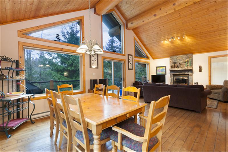 Whistler Accommodations - Open living space with natural light and real wood. - Rentals By Owner