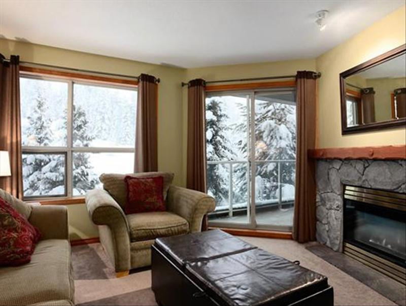 Whistler Accommodations - Living room overlooking Slope - 354 - Rentals By Owner