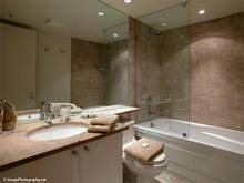 Whistler Accommodations - Bathroom with heated floors, limestone counter - Rentals By Owner