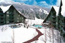Whistler Accommodations - View to the slopes rom the courtyard - Rentals By Owner