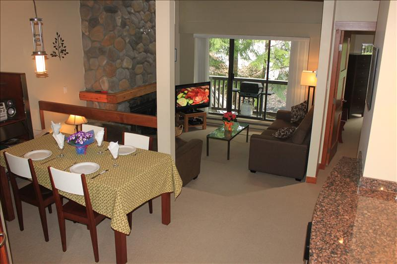 Whistler Accommodations - Open dining and living area - Rentals By Owner