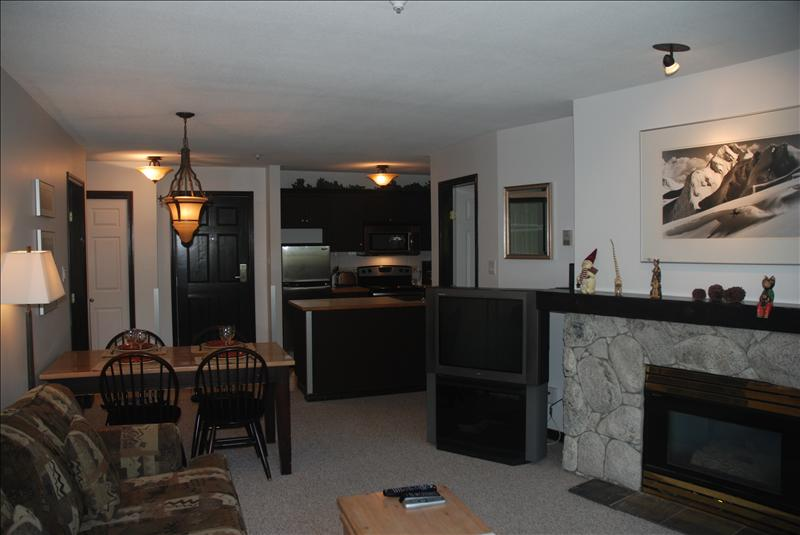Whistler Accommodations - Living Room & Kitchen - Rentals By Owner