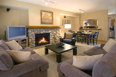 Whistler Accommodations - Main living area (Image does not show new flat screen TV) - Rentals By Owner