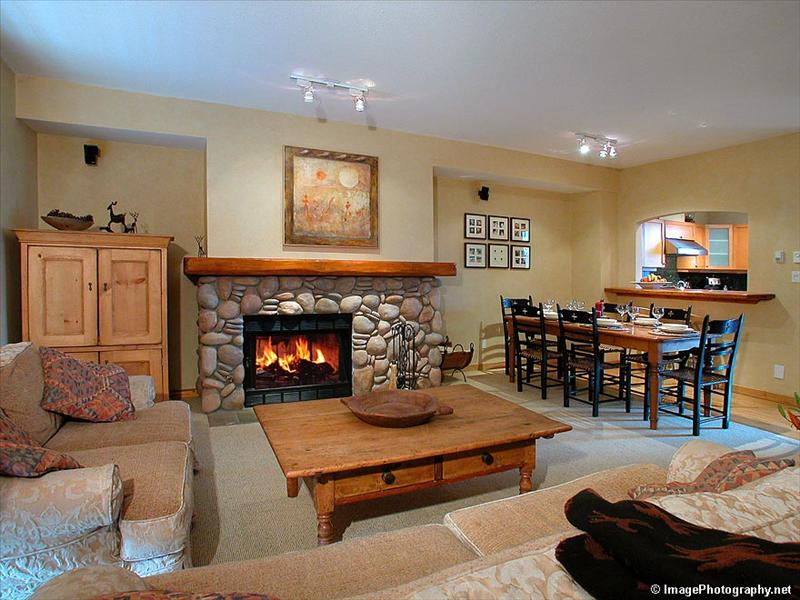 Whistler Accommodations - Large wood burning fireplace - Rentals By Owner