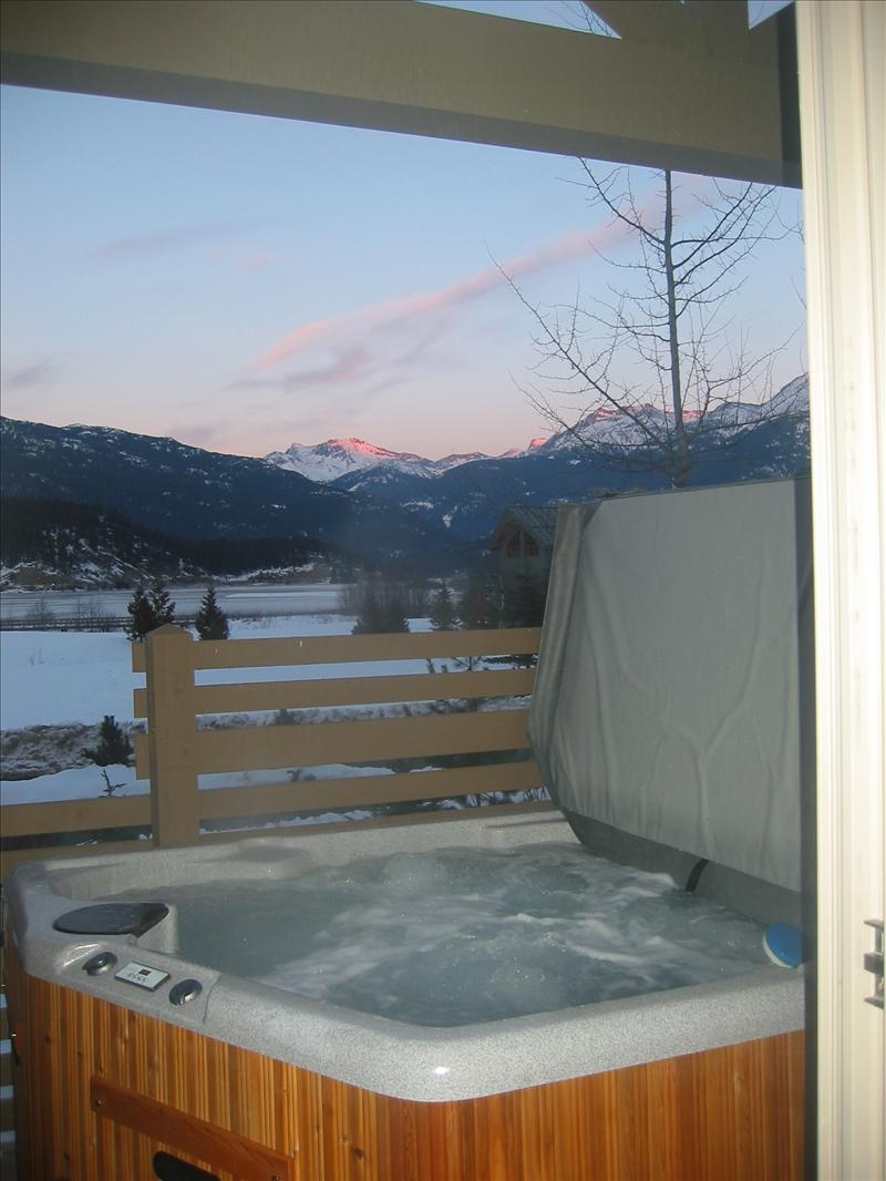 Whistler Accommodations - Amazing sunset views from hot tub on 2nd (back) balcony - Rentals By Owner