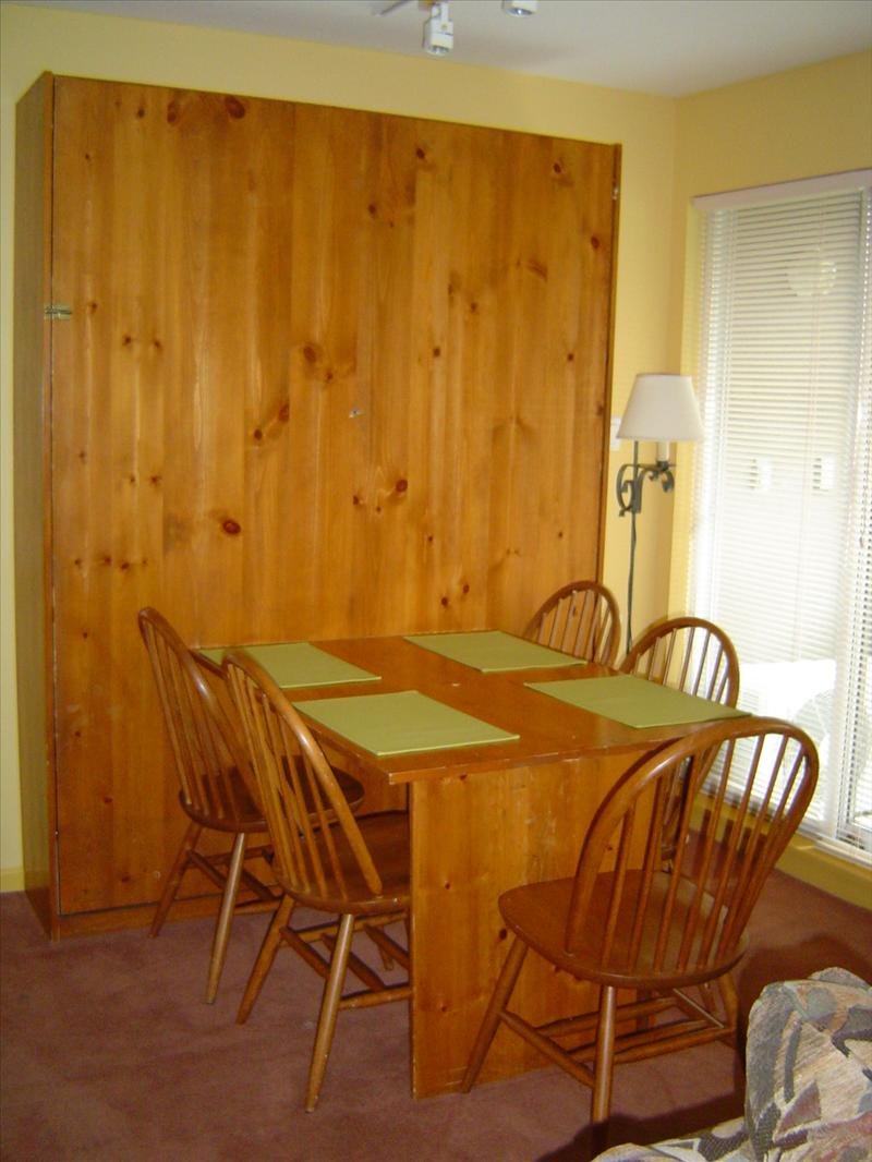 Whistler Accommodations - Dining area and murphy bed  - Rentals By Owner