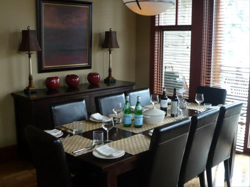 Whistler Accommodations - Taluswood Dining Room with a View - Rentals By Owner