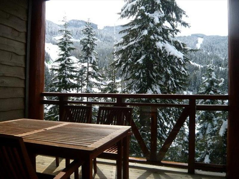 Whistler Accommodations - Taluswood Deck off Dining Room - Rentals By Owner