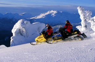 Whistler snowmobiling - BC Canada - Whistler Blackcomb Resort Snowmobiling Information